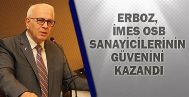 Erboz, İMES OSB Sanayicilerinin Güvenini Kazandı